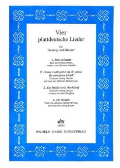 Vier plattdeutsche Lieder (Gesang und Klavier)