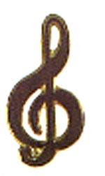 Anstecknadel-Notenschlüssel