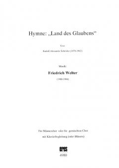 """Hymne: """"Land des Glaubens"""""""