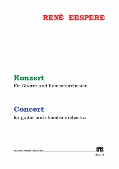 Concert for guitar and chamber orchestra (study score)
