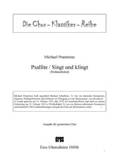 Psallite / Sing und klingt (gemischter Chor)