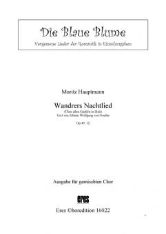 Wandrers Nachtlied (gemischter Chor)