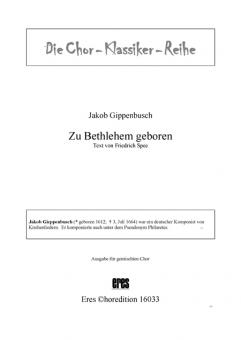 Zu Bethlehem geboren (gemischter Chor)