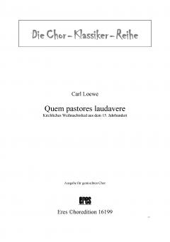 Quem pastores laudavere (gemischter Chor)