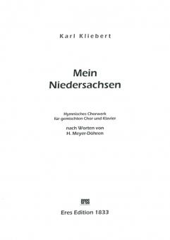 Mein Niedersachsen (gemischter Chor-Instr.-Stimmen)