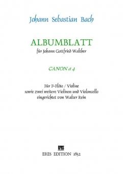 Albumblatt (Canon a 4) strings