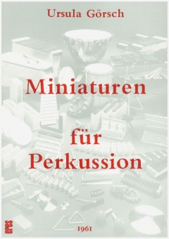 Miniaturen für Perkussion (Partitur)