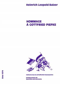 Hommage á Gottfried Piefke (Flöte, Klarinette)
