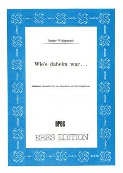 Wie's daheim war (voc. & piano-DOWNLOAD)