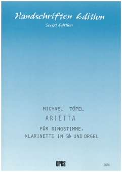 Arietta (Singstimme, Klarinette in Bb und Orgel)