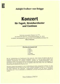 Konzert für Fagott  F-Dur (Fagott, Stimmen)