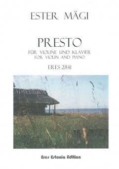 Presto (violin & piano)