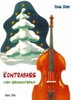 Kontrabass vorm Weihnachtsbaum