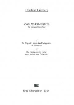 Zwei Volksliedsätze (gemischter Chor)