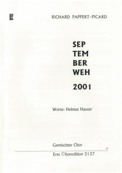 Septemberweh 2001 (gemischter Chor)