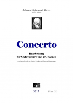 CONCERTO for oktave guitar. & 2 guitars
