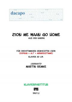 Zion me waan go home (Klavier)