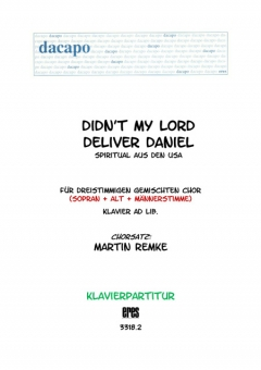 Didn´t My Lord Deliver Daniel (Klavier)