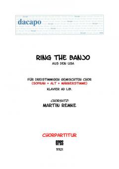 Ring, ring the banjo (gemischter Chor 3st)