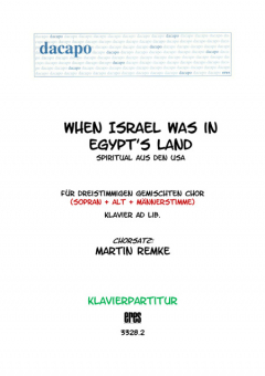 When Israel was in Egypt´s Land (Klavier)