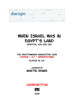 When Israel was in Egypt´s Land (gemischter Chor 3st)