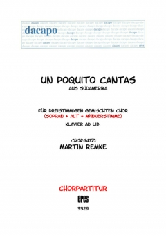 Un poquito cantas (gemischter Chor 3st)