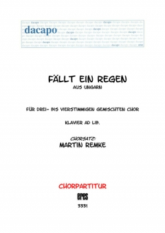 Fällt ein Regen (gemischter Chor 3-4st)