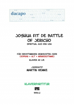 Joshua fit the battle (Klavier)