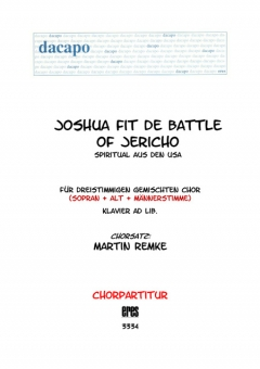 Joshua fit the battle (gemischter Chor 3st)