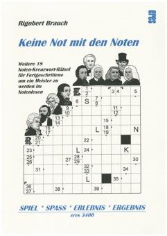 Noten-Kreuzwort-Rätsel 2