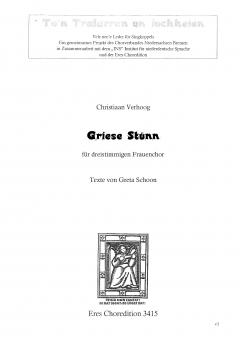 Griese Stünn (Frauenchor 3st)