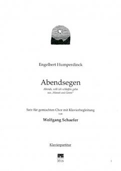 Abendsegen (gemischter Chor / Klavier)