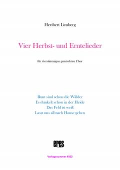 Vier Herbst- und Erntelieder (gemischter Chor 3st)