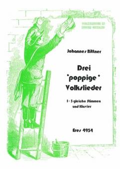 Drei poppige Volkslieder (Frauenchor Partitur)
