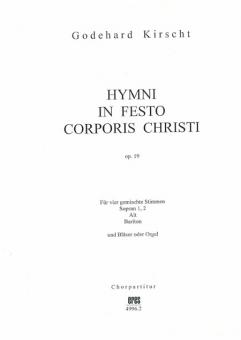 Hymni in festo corporis Christi (Chorpartitur)