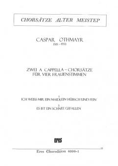 Zwei a cappella-Chorsätze (Frauenchor)