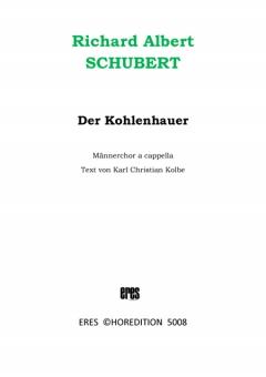 Der Kohlenhauer (Männerchor)