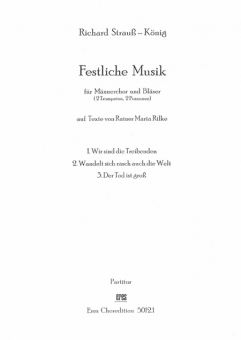 Festliche Musik (Männerchor / Bläserstimmen)