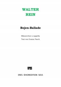 Bojen-Ballade (Männerchor)