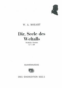 Dir, Seele des Weltalls (gemischter Chor / Männerchor) Klavierauszug