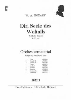 Dir, Seele des Weltalls (gemischter Chor / Männerchor) Orchesterstimmen
