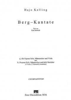 Berg-Kantate (Chorpartitur)