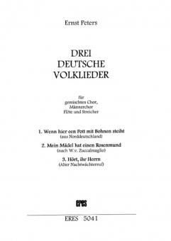 Drei deutsche Volkslieder (gemischter Chor, Instrumente)