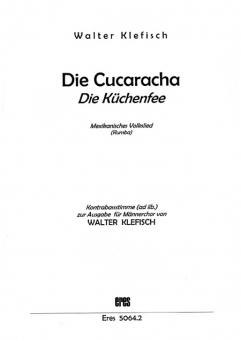 Die Cucaracha (Kontrabassstimme)