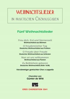 Fünf Weihnachtsliedsätze (gemischter Chor)