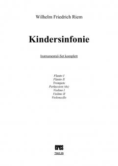 Kindersinfonie-Instrumentalstimmen