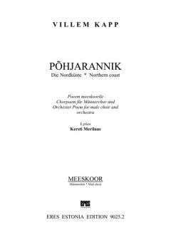 Põhjarannik (Männerchor & Orchester)
