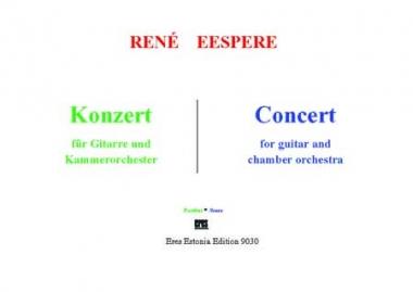 Konzert für Gitarre und Kammerorchester (Partitur)