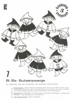 Sieben Bi-Ba-Butzenzwerge (Spielpartitur)