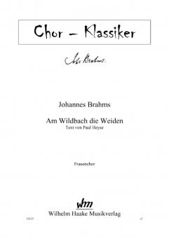 Am Wildbach die Weiden (Frauenchor)
